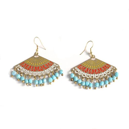 Multi Color Rococo Earrings $21.99 #Jewelry is the name & #accessories is the game http://bit.ly/SNWaccessories