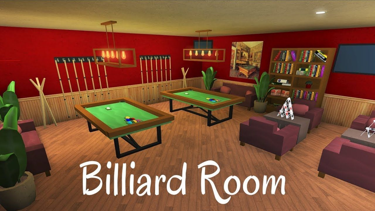 Roblox Bloxburg Billiard Room Speed Build Beautiful Living