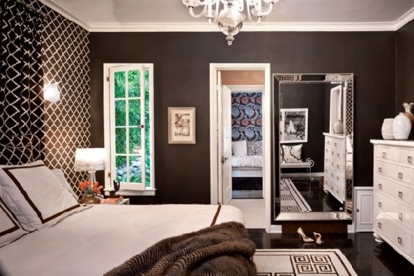 Bedroom - Cream, Brown, Rust and Black