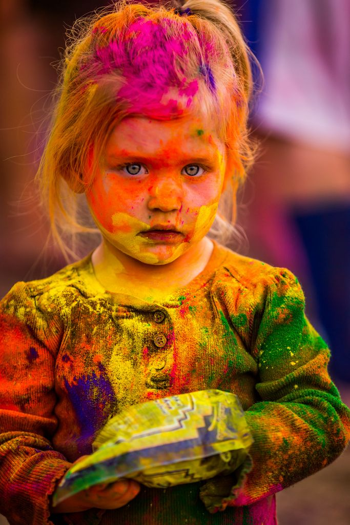 Kids embracing art and getting dirty is something I love to see ...