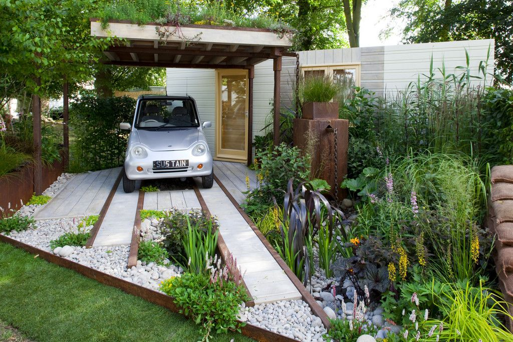 Turn Your Grey Space Green Pergola Front Garden Cool Plants