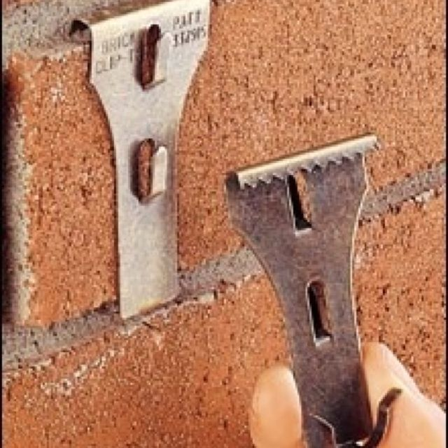 Brick hooks - can be used to hang items over the fireplace without