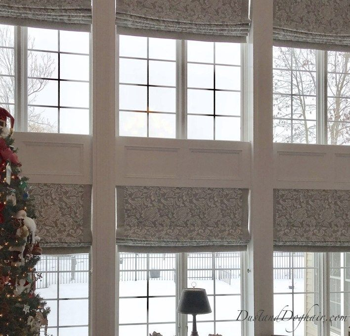 DIY Roman Shades For Oversized Windows