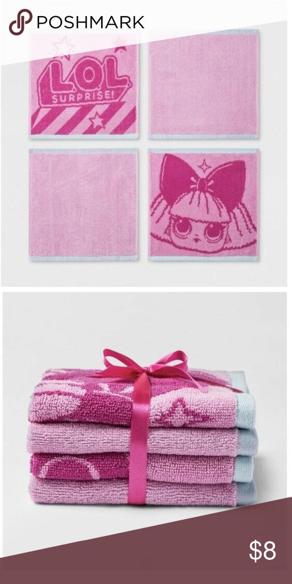 L.O.L Set of Four Washcloths Surprise