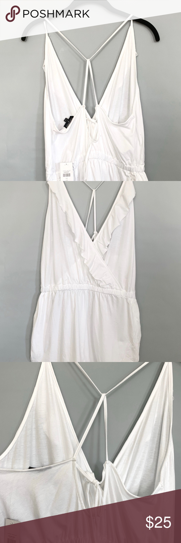 211744b6d1ef Topshop Jersey Wrap Cover up romper size 8 10 NWT New With Tag A  one-and-done post-beach outfit is made of soft