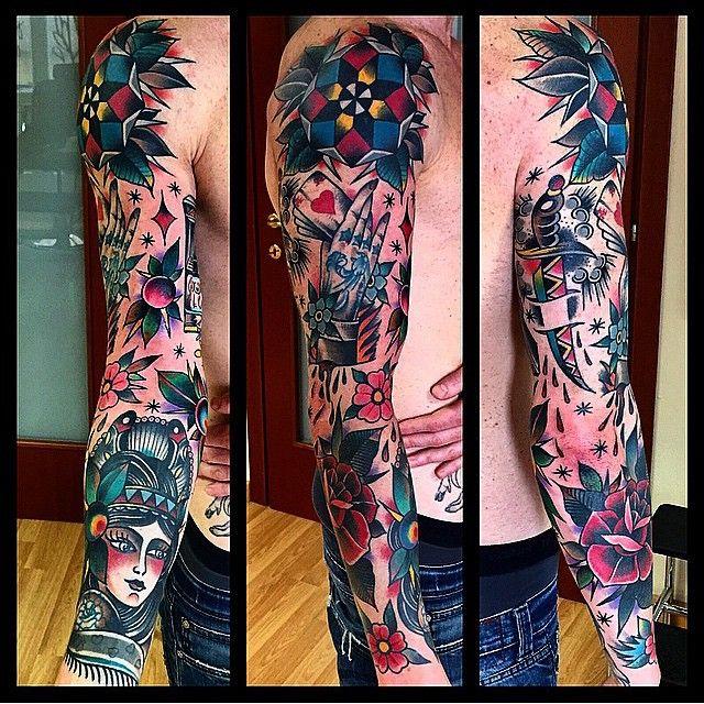 25 Full Sleeve Tattoo Ideas You Ll Love Forever Sleeve Tattoos Traditional Tattoo Sleeve Best Sleeve Tattoos