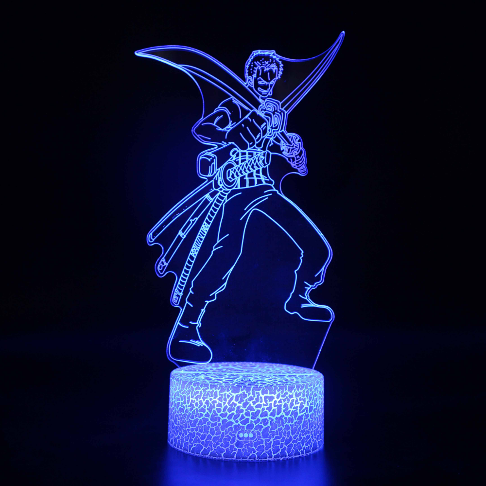 Novelty Lighting One Piece Anime 3d Illusion Led Lamp Luffy Zoro Model Night Lightskids Room Decor Creative Christmas Gifts Creative Christmas Novelty Lighting