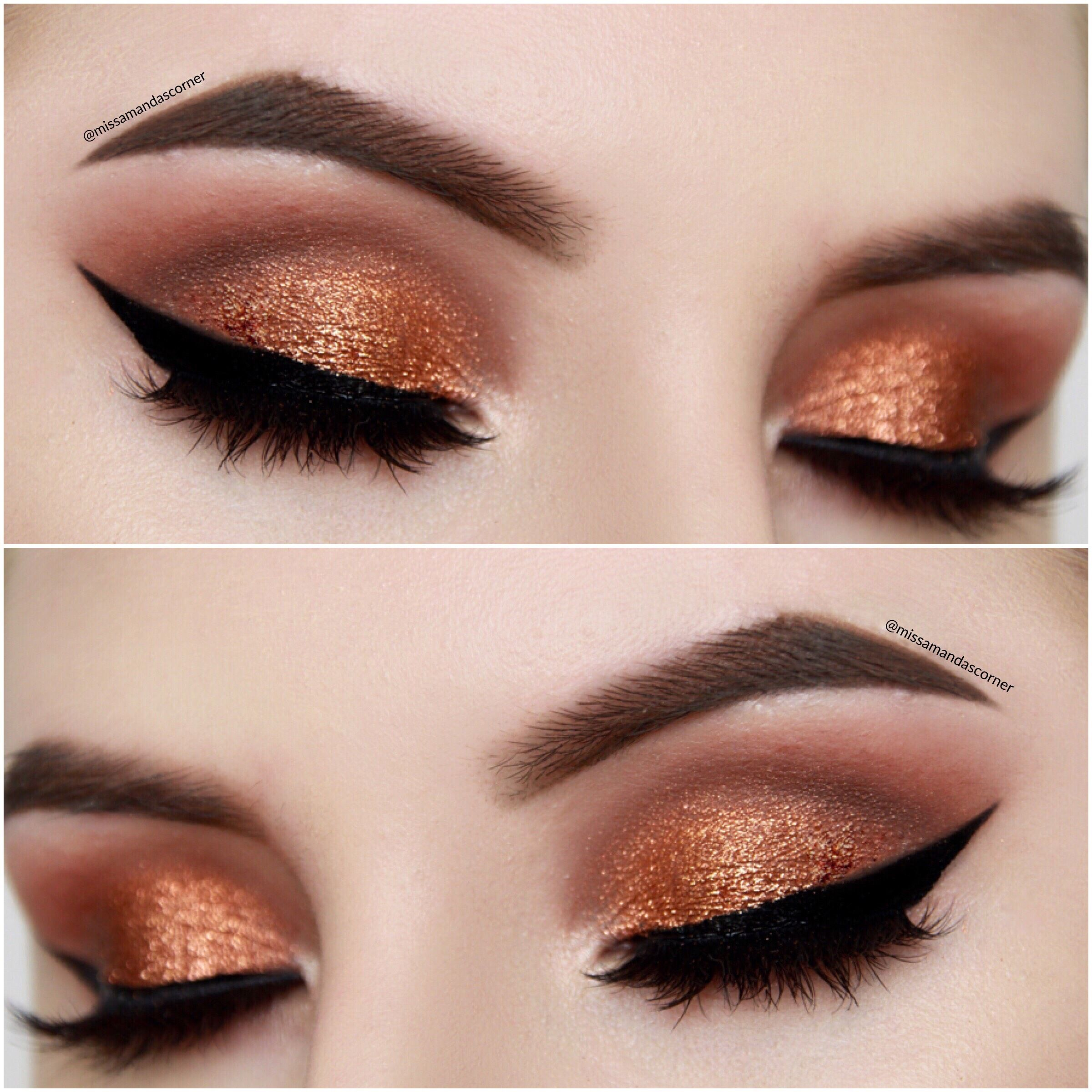 easy copper smokey eye makeup tutorial now live on my