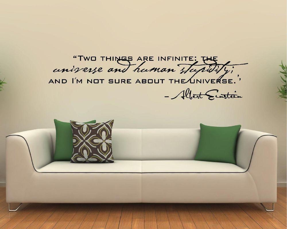 Vinyl Wall Decal Art Saying Quote Decor - Two Things Infinite Albert Einstein  sc 1 st  Pinterest & Vinyl Wall Decal Art Saying Quote Decor - Two Things Infinite Albert ...