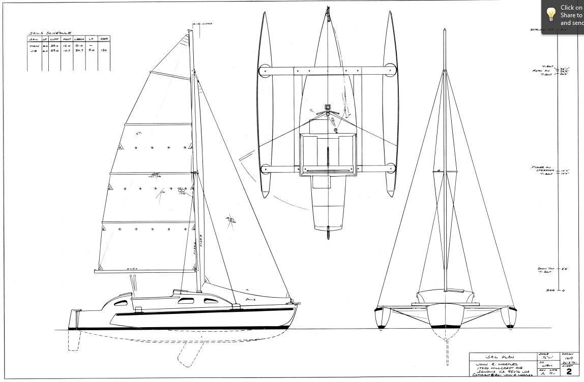 trimaran hull design
