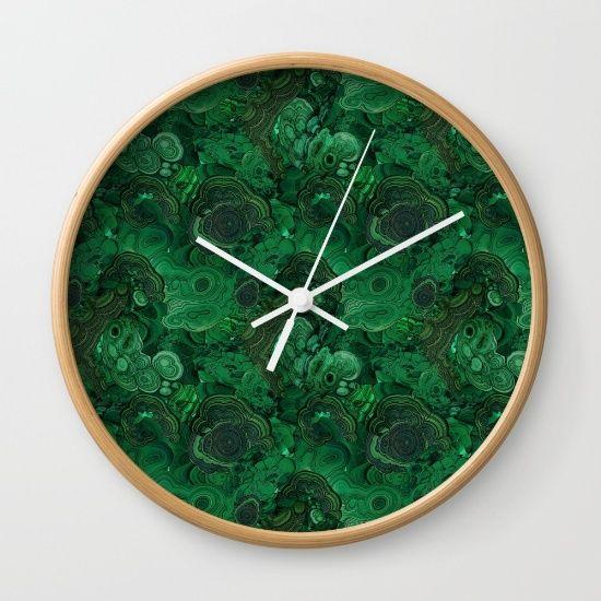 malachite - $30   wall decor   Pinterest   Wall clocks, Clocks and ...