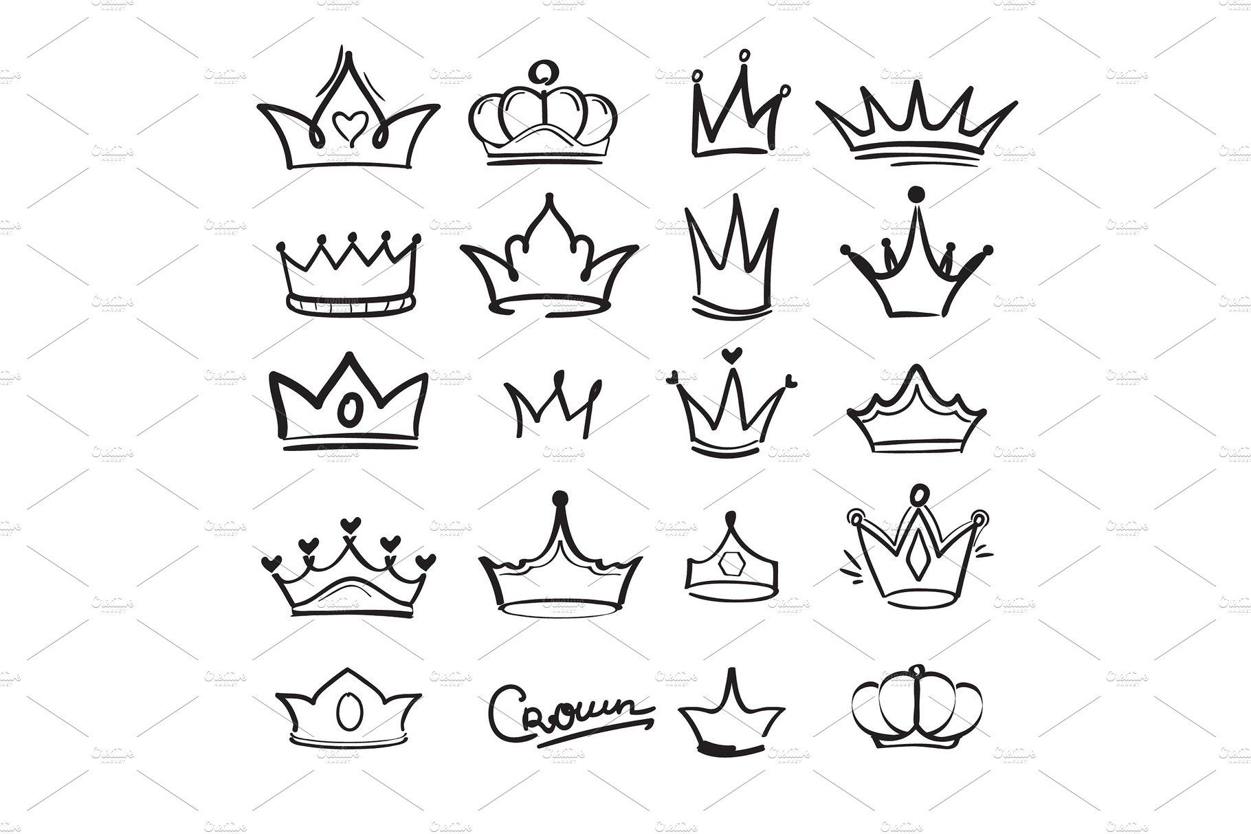 Crown Doodles King Majestic Crown Tattoo Design Crown Drawing Simple Crown Tattoo