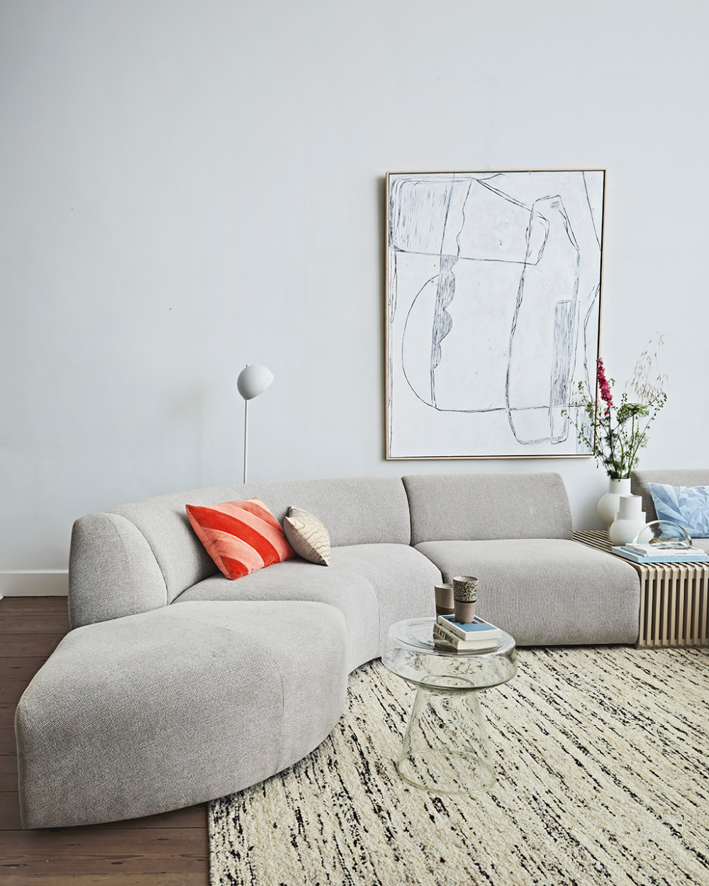 jax couch: element angle, sneak, light grey