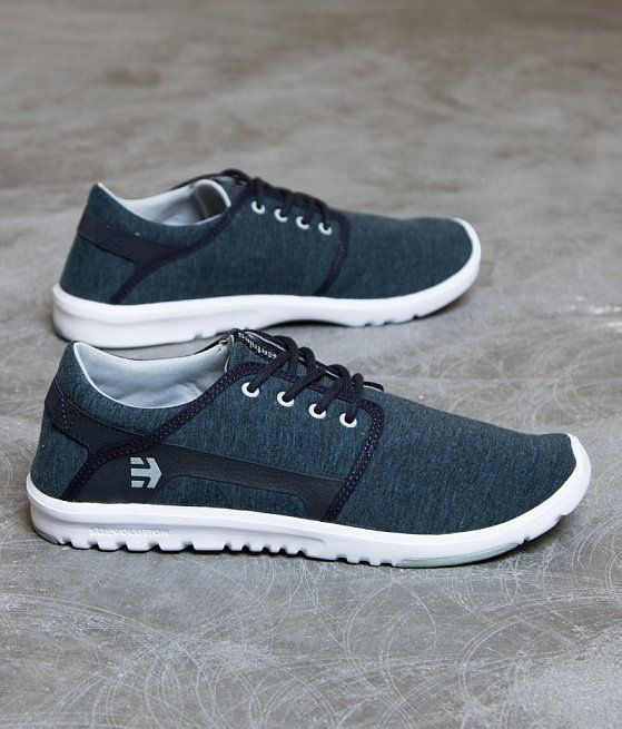 etnies Scout Shoe - Men's Shoes in Navy Grey White