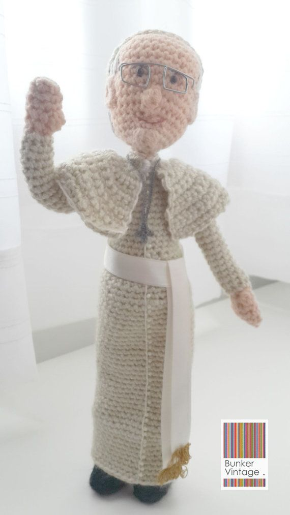 Amigurumi Pope Francis Doll Crochet Pattern - Pope Francis Doll ...