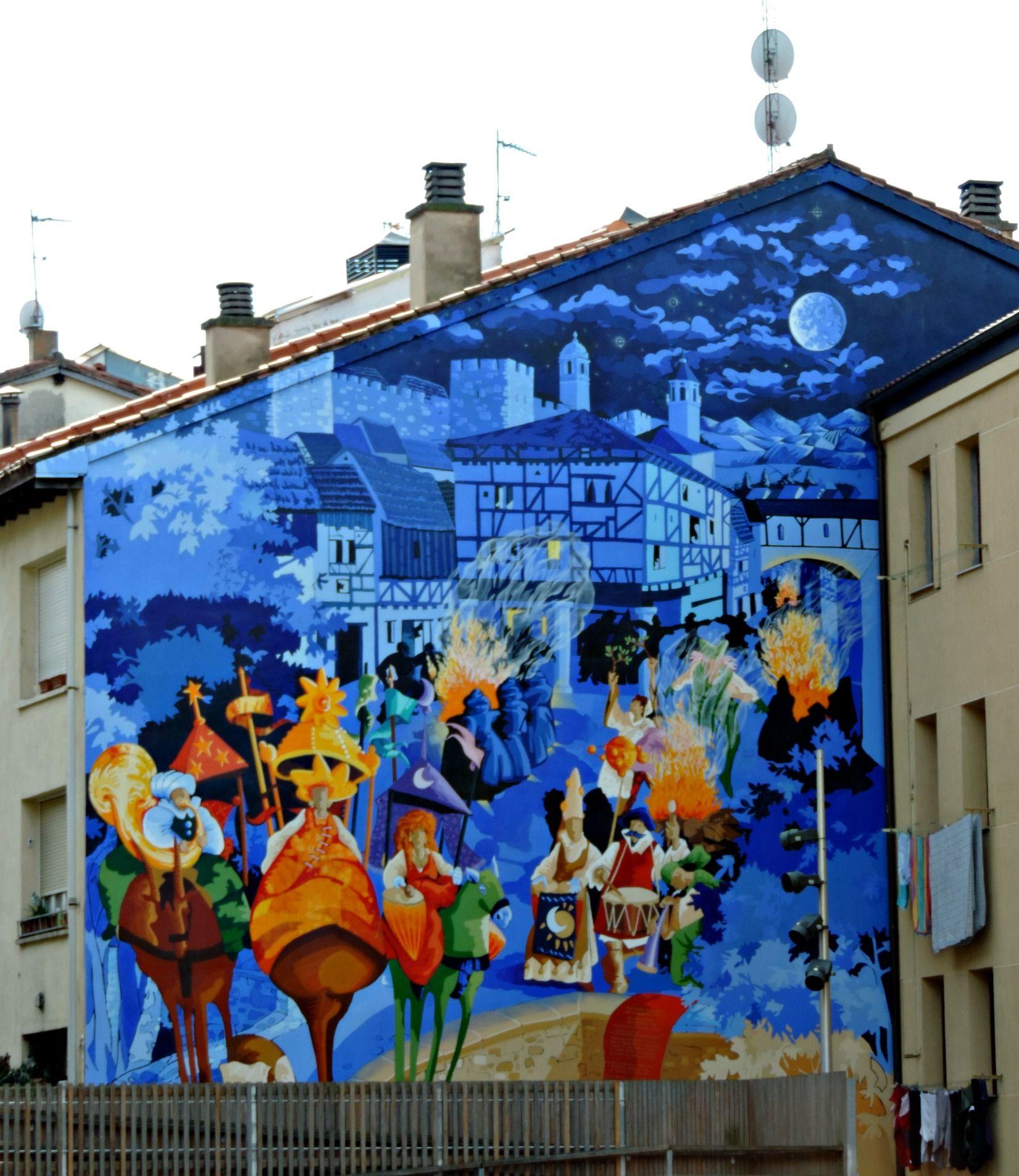 La noche mas corta. Vitoria-Gasteiz | Arte urbano, Graffitis, Arte con arena