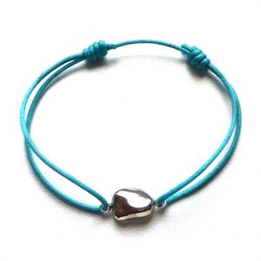 Paradiso Pebble Charm Friendship Bracelet by Brandts Jewellery