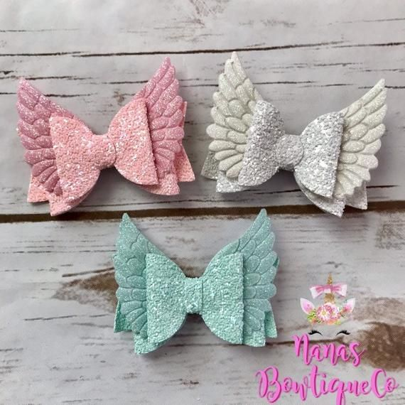Hair bows, mint bow, white bow, pink bow, hair bow set, angel bows #hairbows