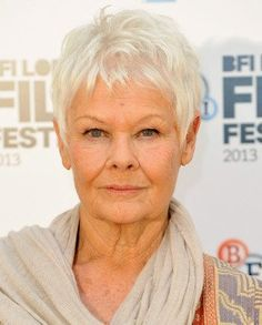 Judi Dench Haircut Side Profgile | Judi Dench Short Straight ...