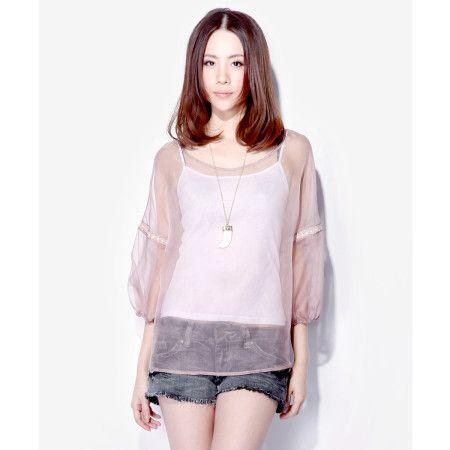 Silk see-through blouse - US$ 76.77