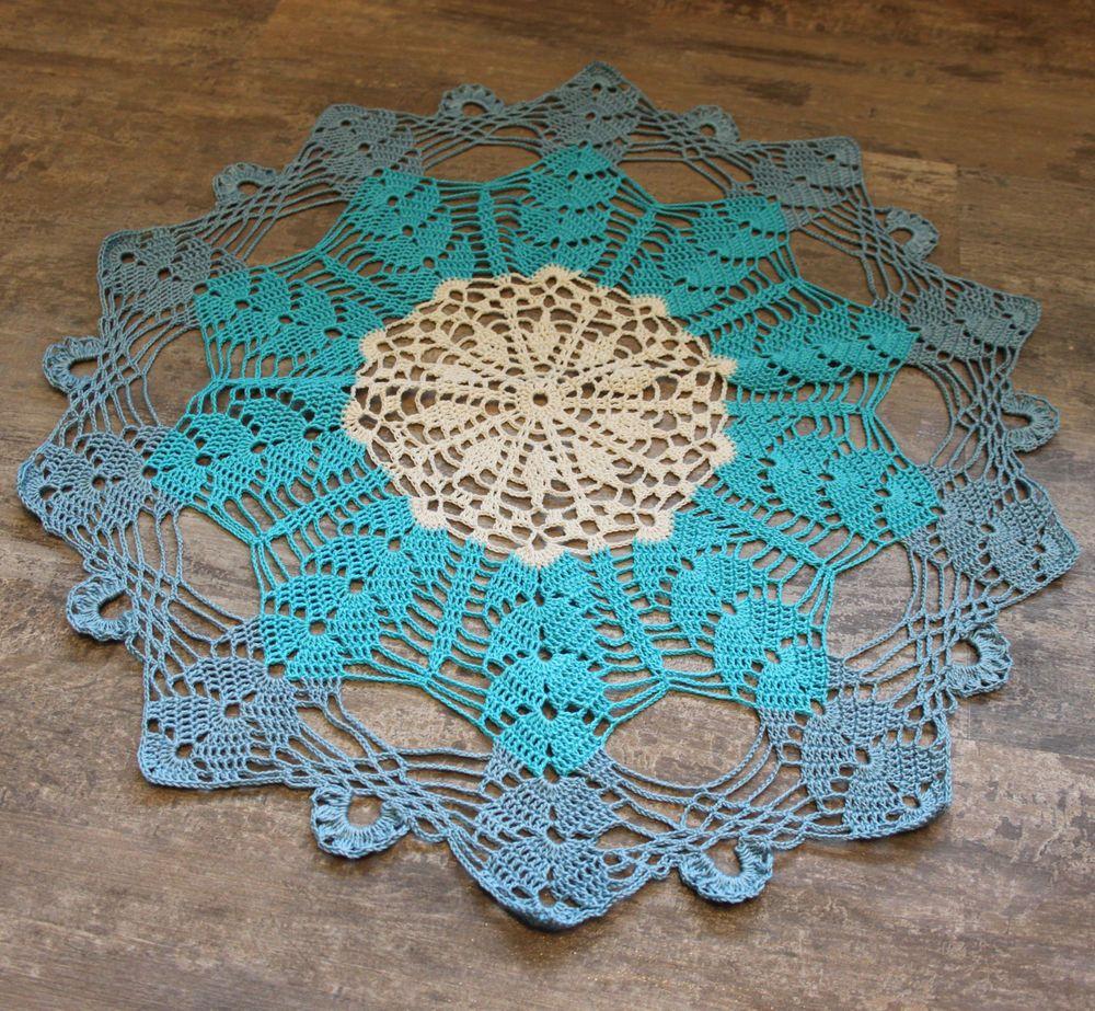 Vintage Style Crochet Lace Doily Doilies Centre Piece Wedding Table