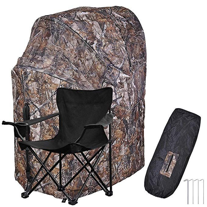 Astonishing Aw 1 Man Fold Chair Ground Deer Hunting Blind Woods Inzonedesignstudio Interior Chair Design Inzonedesignstudiocom