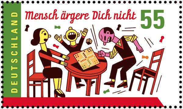 Resultado de imagen de mensch ärgere dich nicht briefmarke