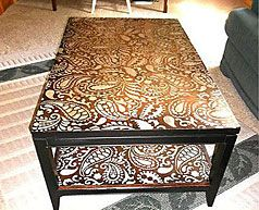 Amazing 11 Paisley Stenciled Coffee Table