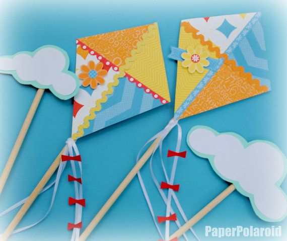 Kite party decorations on a stick cakes search and