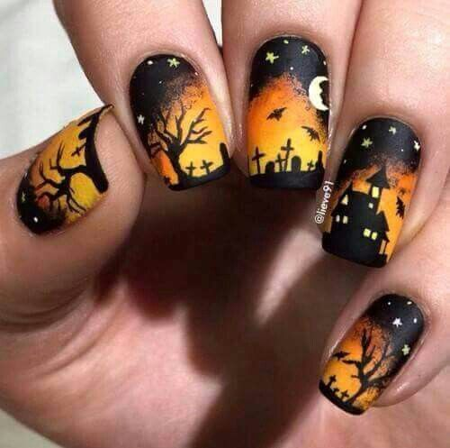 Halloween nail pinteres are you looking for easy halloween nail art designs for october for halloween party see our collection full of easy halloween nail art designs ideas and prinsesfo Choice Image