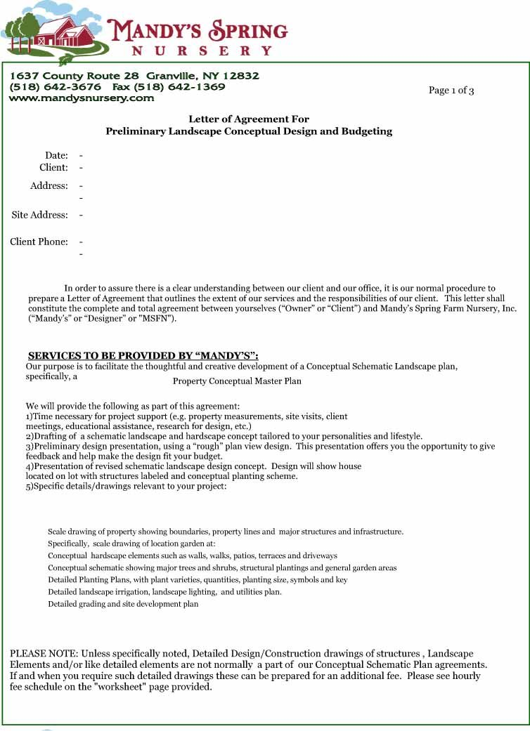 LetterOfAgreementDesign  Agreement Letter Template  Legal