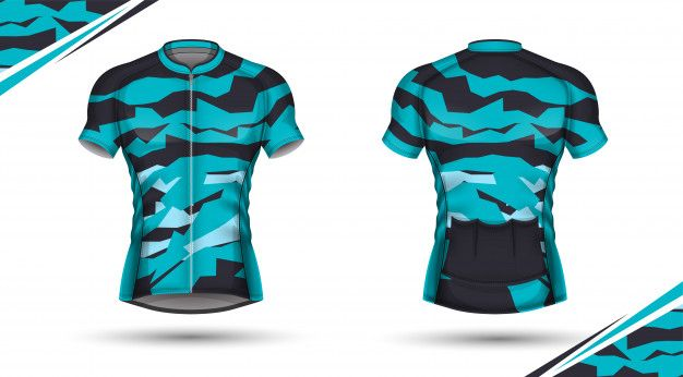 Cycling jersey, front and back Premium V... | Premium Vector #Freepik #vector #woman #fashion #fitne...