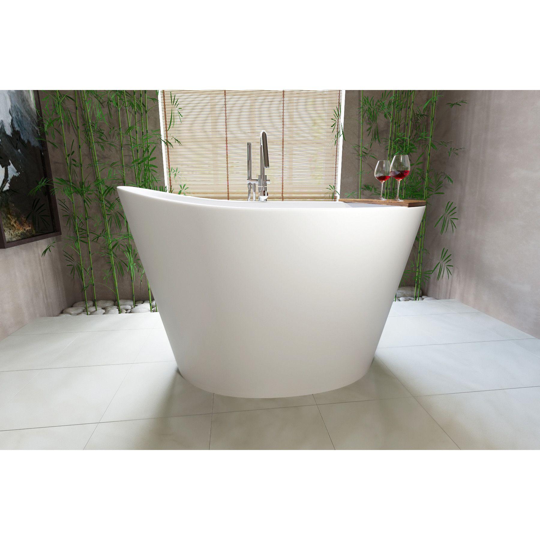 True Ofuro 52 X 36 Freestanding Soaking Bathtub Soaking