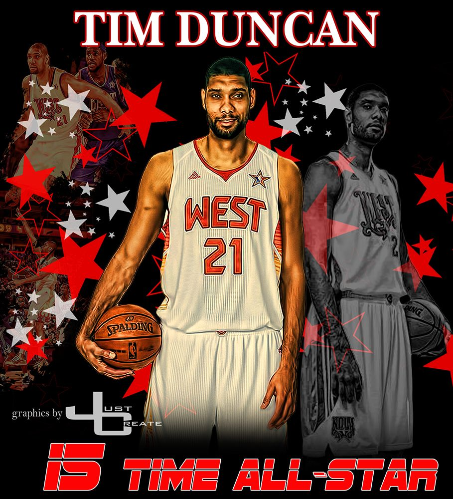 Tim Duncan Graphics By Justcreate Sports Edits Tim Duncan George Gervin Manu Ginobili