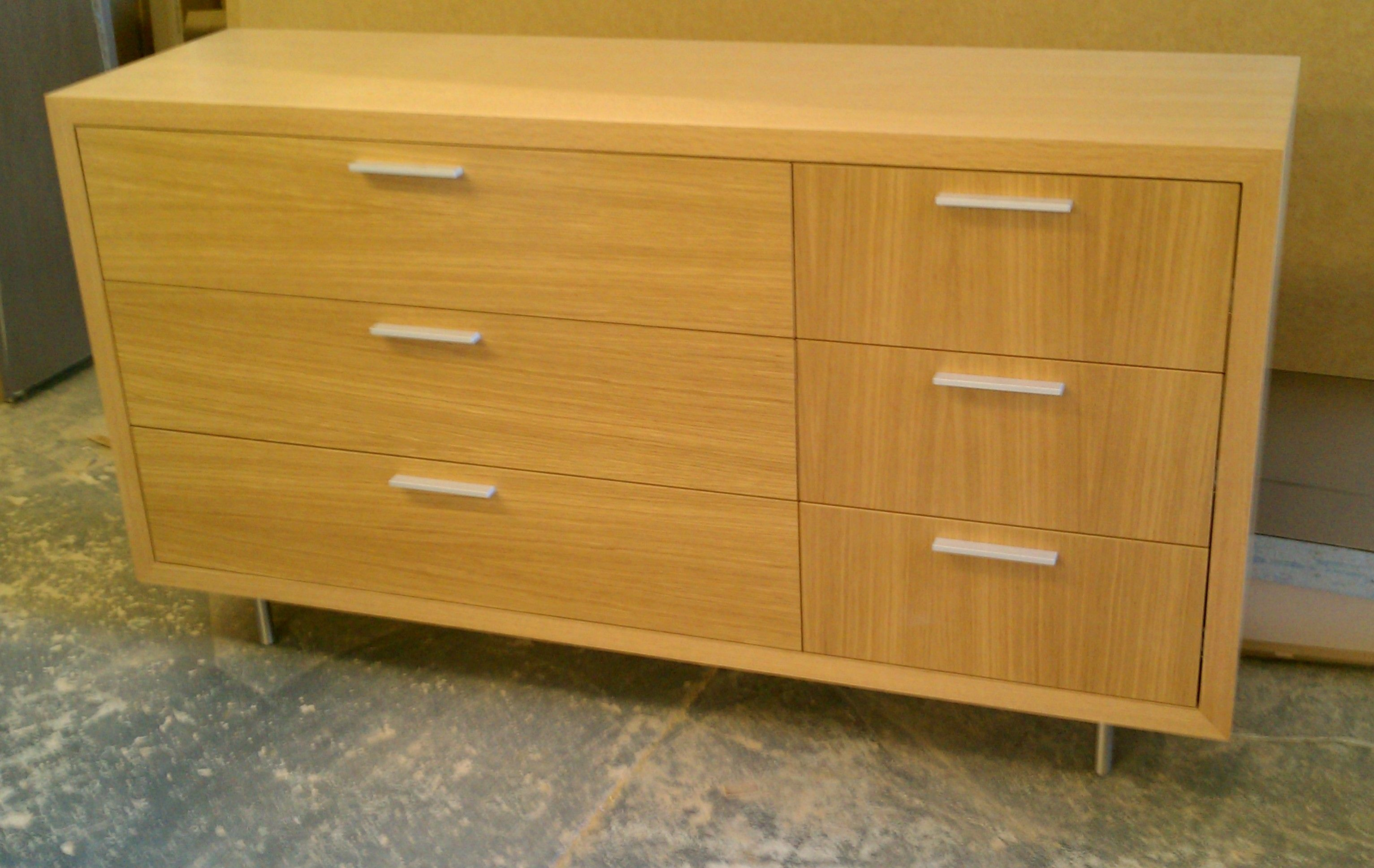 Clermont #Credenza #Media Cabinet In Rift White Oak Veneer With Cross