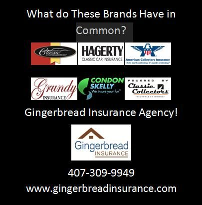 Gingerbread Insurance Agency is a Collector Car Specialist.  Let us get a quote from the biggest names in Collector Auto Insurance.