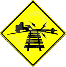 Image result for low good clearance railroad crossing ahead