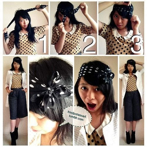 Knot Just A Scarf Tutorial 120 The Bow Flower Headband Great For