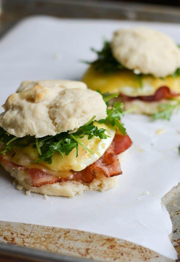 Arugula & Bacon Breakfast Sandwiches