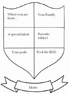 create your own coat of arms worksheet - Google Search   Camp Fire ...