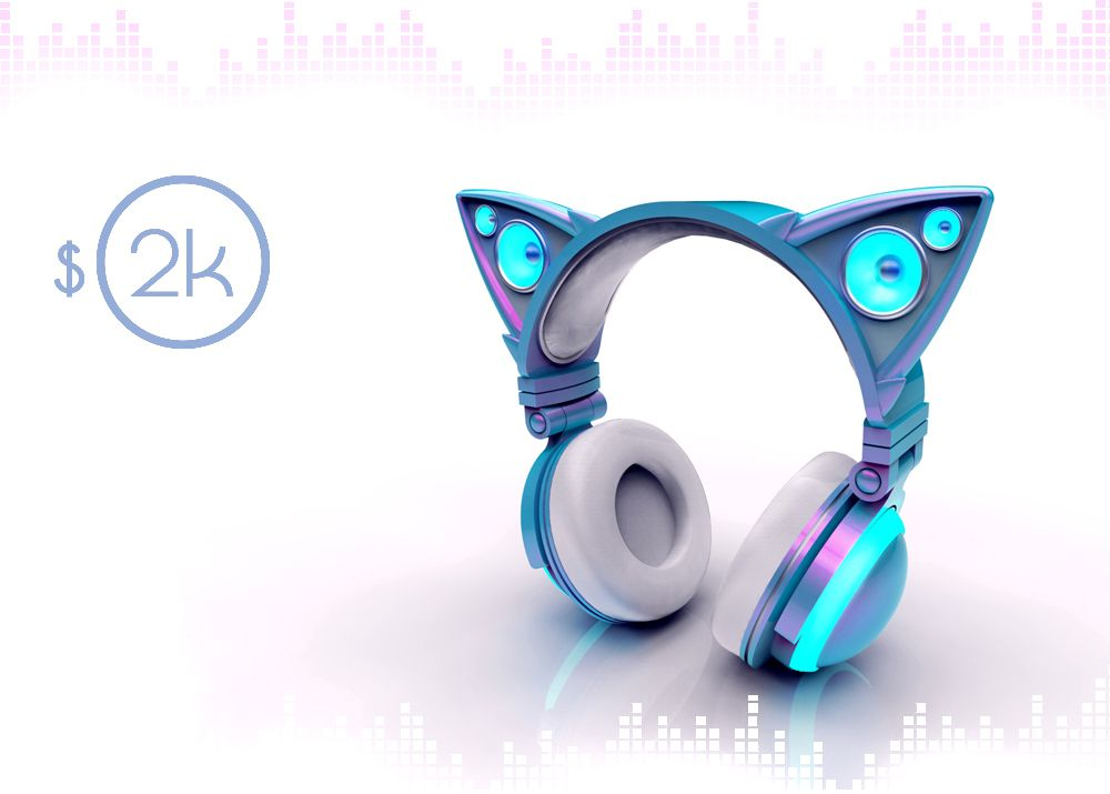 OMG that is so beautiful~~ Axent Wear Cat Ear Headphones ...