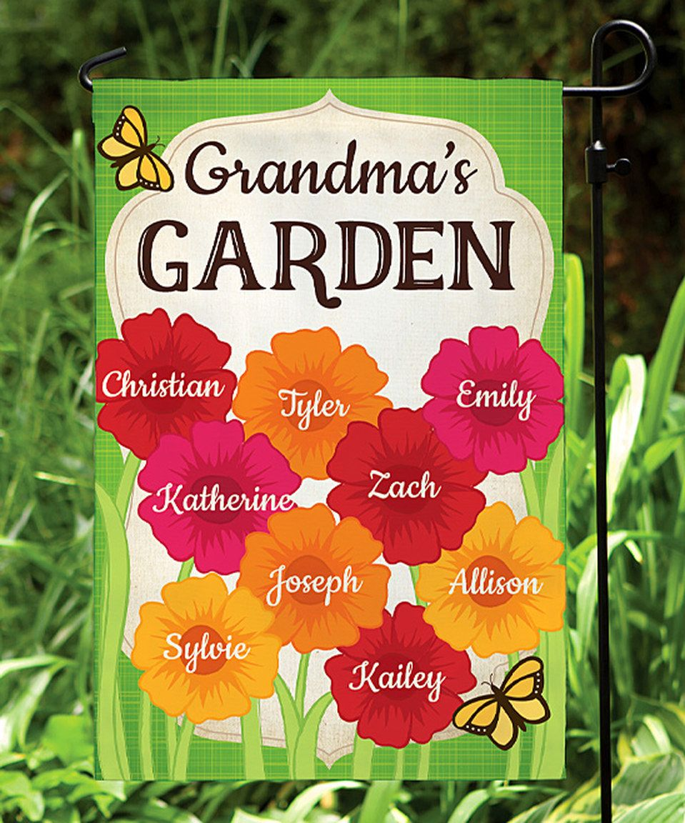 Take a look at this Her Garden Personalized Garden Flag