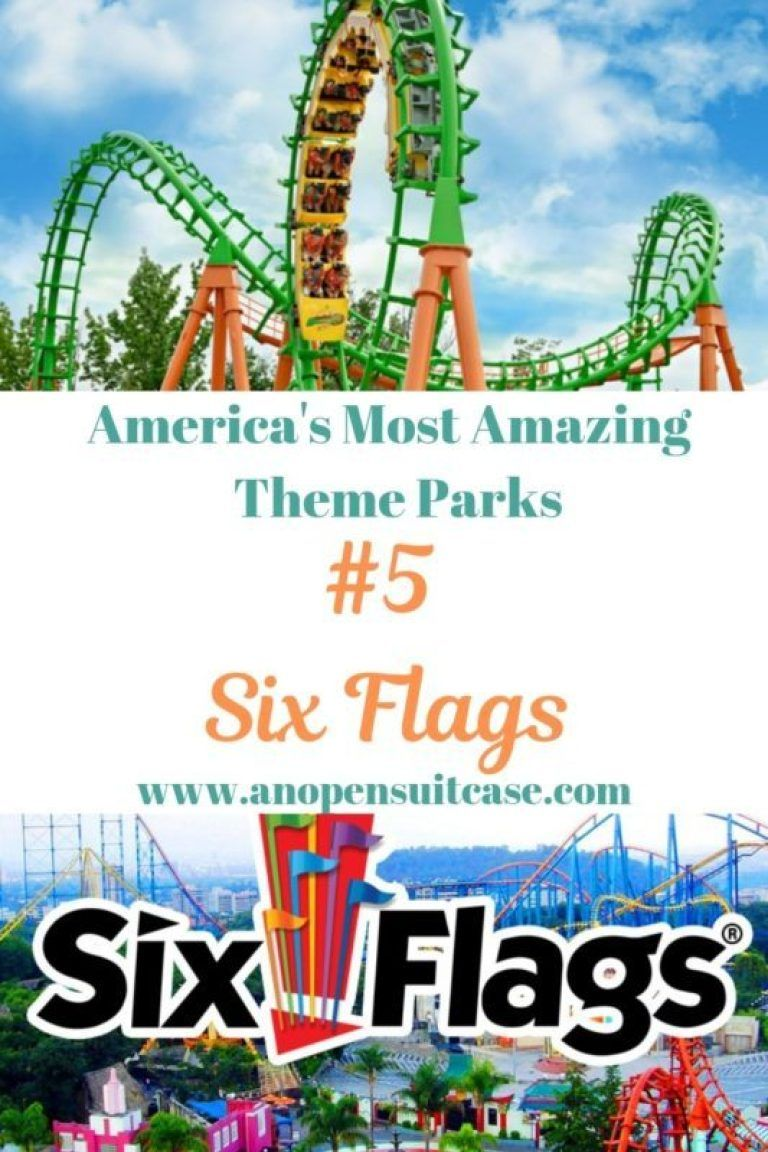 Amazing Parks Six Flags Company An Open Suitcase Six Flags Six Flags Great Adventure Theme Parks Usa