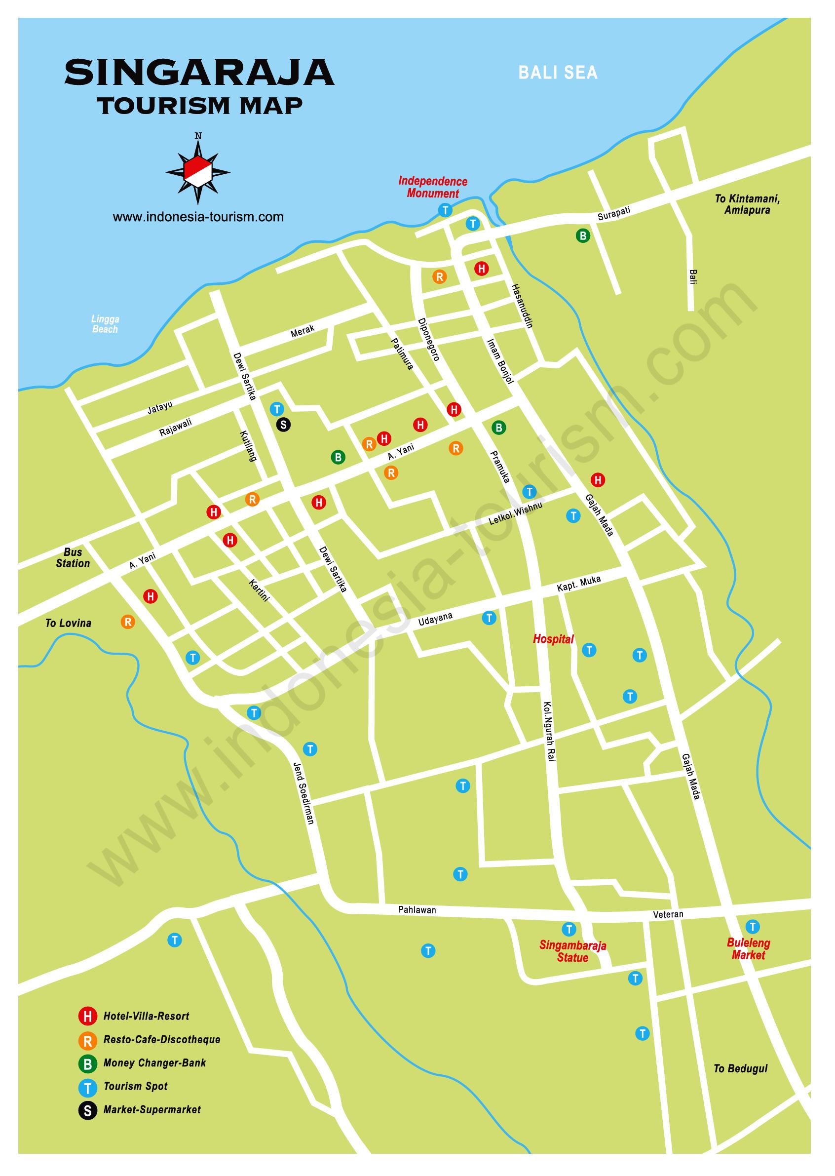 Singaraja Map Of Bali Bali Indonesien Indonesien Bali