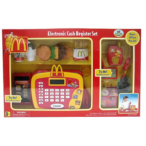Just Like Home Mcdonald S Cash Register 10 Piece Playset Toys R Us