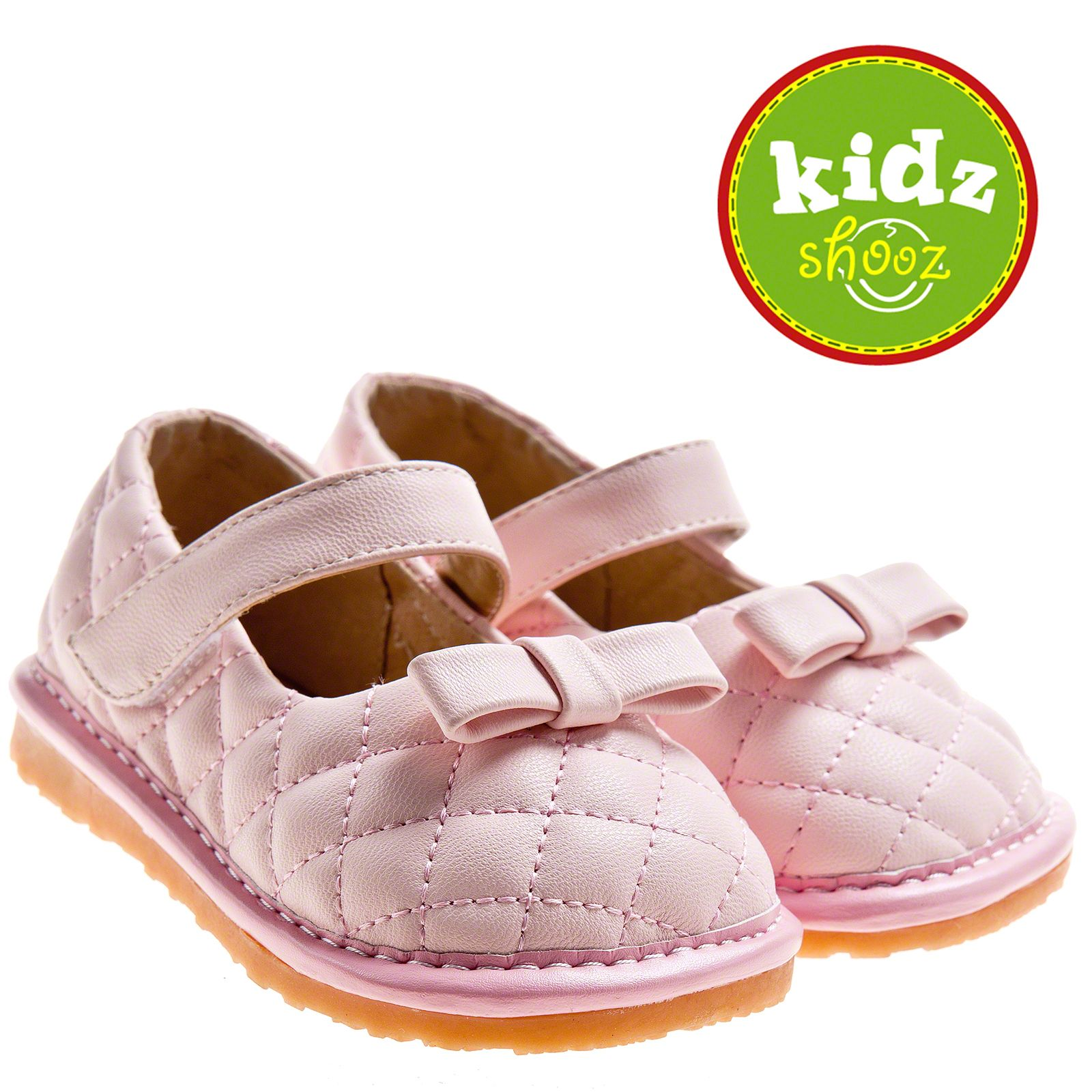 NEW Little Blue Lamb Girls Infant Toddler Leather Squeaky Shoes Pink