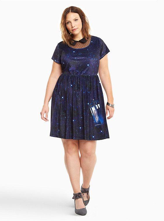 Doctor Who Velvet Skater Dress | Geekness | Velvet skater ...