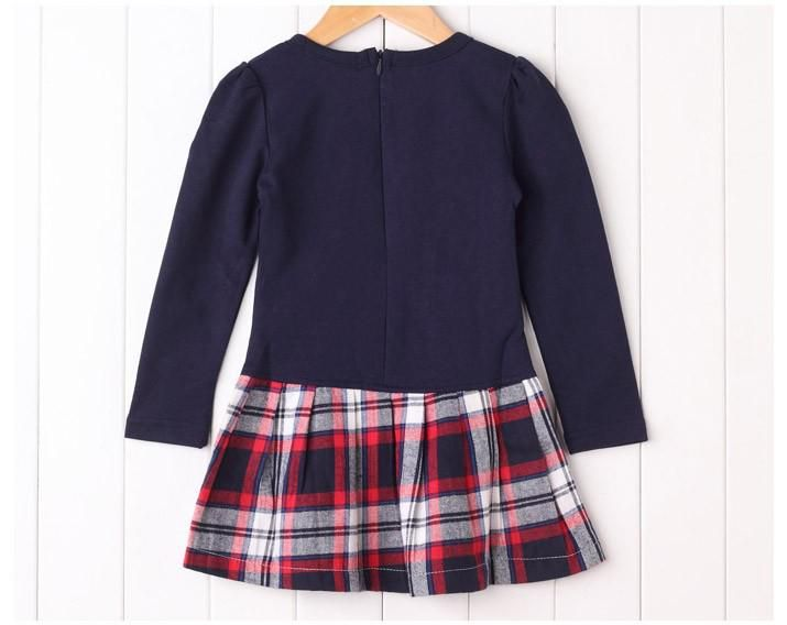 Cheap Dress Up Girls Dresses - Cute Plaid Patchwork Baby Girls Long Sleeve Dress 6034 Online with $31.67/Piece | DHgate