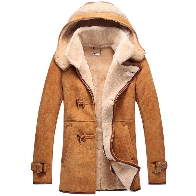 Mens Sheepskin Coat >> Men Sheepskin Coat Cwmalls Madrid Leather Shearling Parka Coat