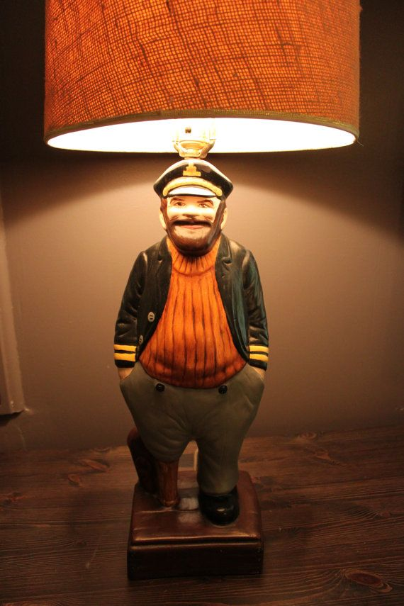 Vintage sailor captain table lamp by squaredealsupplyco on etsy 125 00